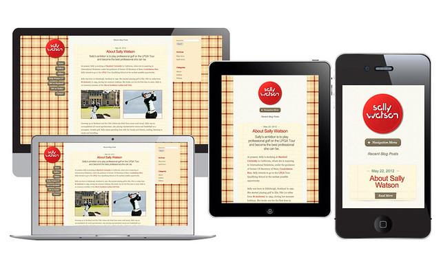 Responsive websites for golfer Sally Watson