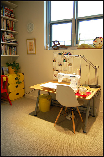my sewing desk and the juki