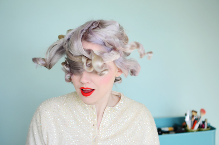 lavender hair curls b