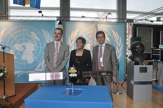 UNOOSA - donation ceremony of a Galileo navigation satellite model