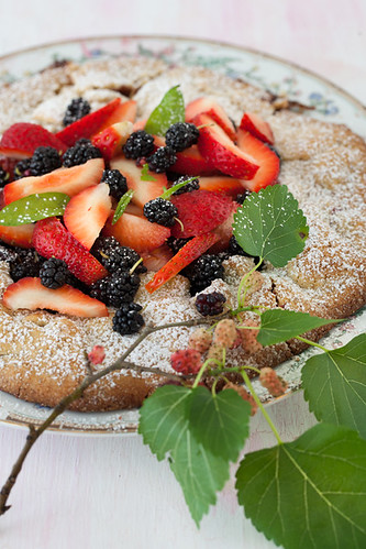 Mulberry & Strawberry Galette For the recipe, please visit: http://www.melangery.com/2013/06/mulberry-strawberry-galette.html