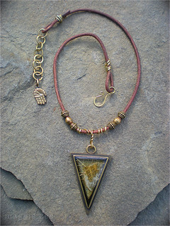 Triangular Shaman's Amulet by Maggie Zee