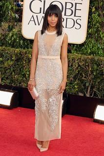 Kerry Washington Sheer Dress Celebrity Style Women's Fashion