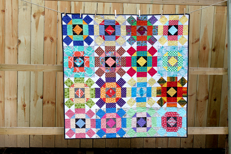 Multicolored Quilt with Bright Design