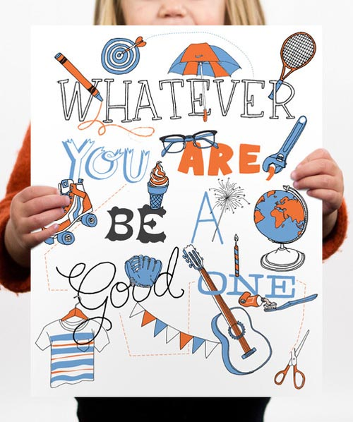 Be-A-Good-One-Poster_ Julia Rothman