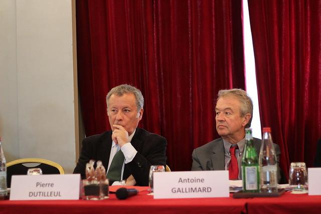 Pierre Dutilleul (Editis) et Antoine Gallimard