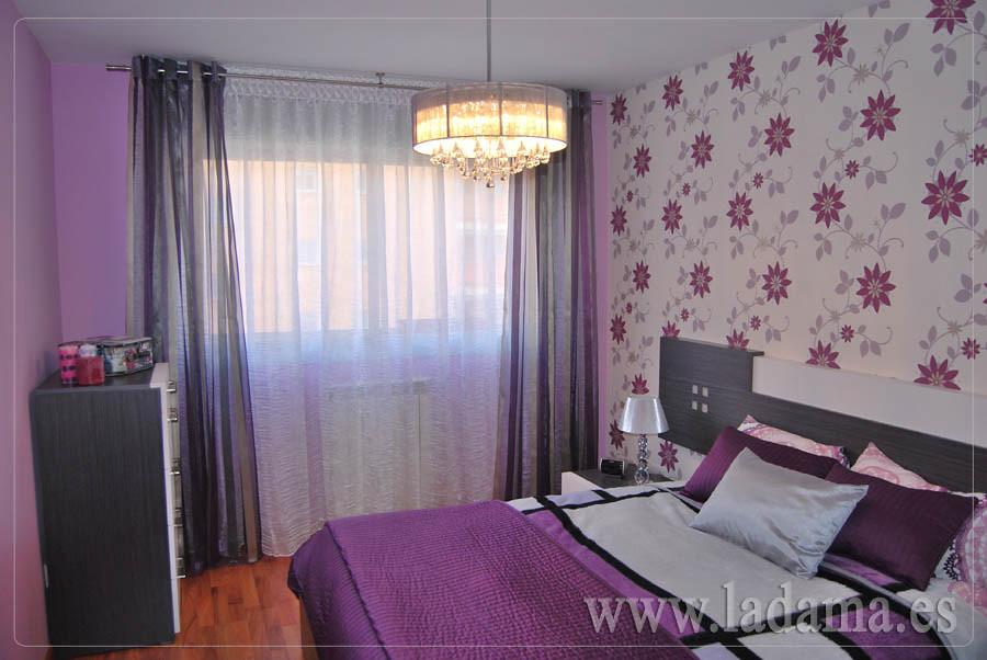 Fotograf as de cortinas con barras la dama decoraci n for Cortinas de dormitorios modernos