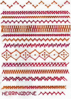 herringbone sampler by ladymoogie