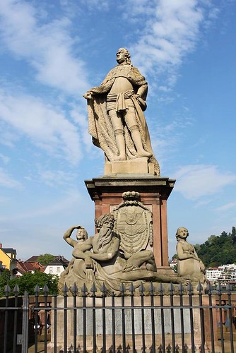 close up of statue on the bridge of Heidelberg