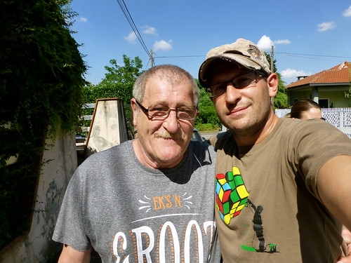 With my dad in Canegrate