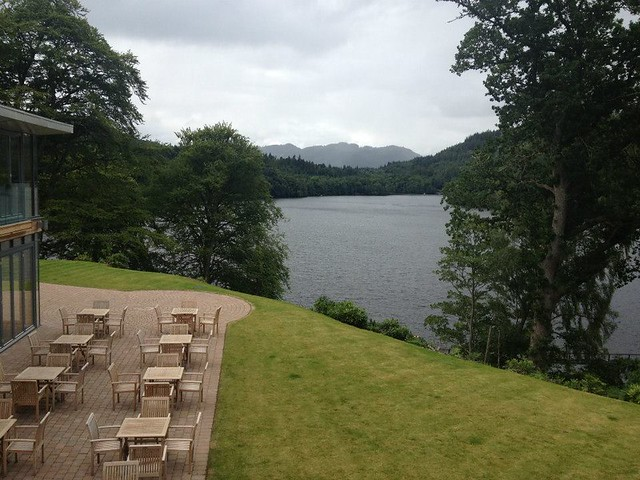 Loch view at Fonab Castle Pitlochry