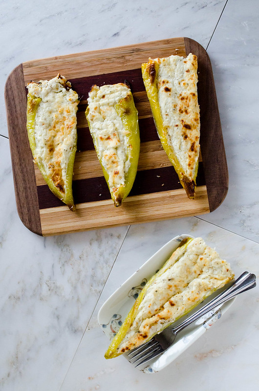 Cheesy Stuffed Banana Peppers (Gluten Free) with greek yogurt | cooking ala mel