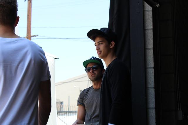 Adidas Neo Jessey Stevens fall campaign shoot Los Angeles lisforlois