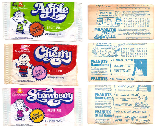 Update Dolly Madison Peanuts Fruit Pie Wrappers / Inserts