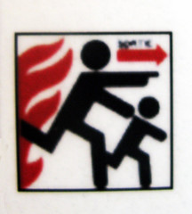 Stick figure in peril [Lausanne, Swiss]