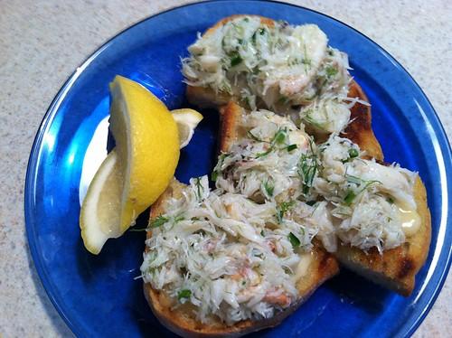 Crab Toast with Lemon Aioli - allison