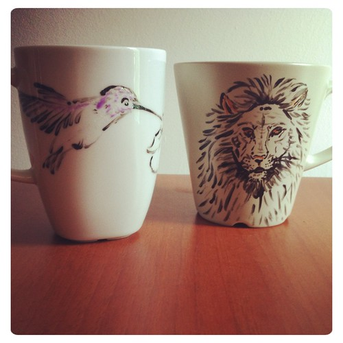 Hummingbird & Lion Cups by Sparrow Little