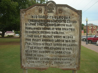 Tahlequah Historic Marker