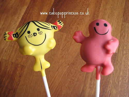 Mr Men cake pops - Mr Greedy, Little Miss Sunshine