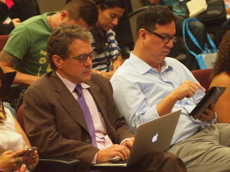 James Breiner y Ricardo Corredor en el auditorio de #PdH2013