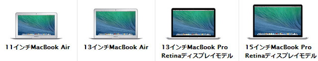 MacBook比較2013