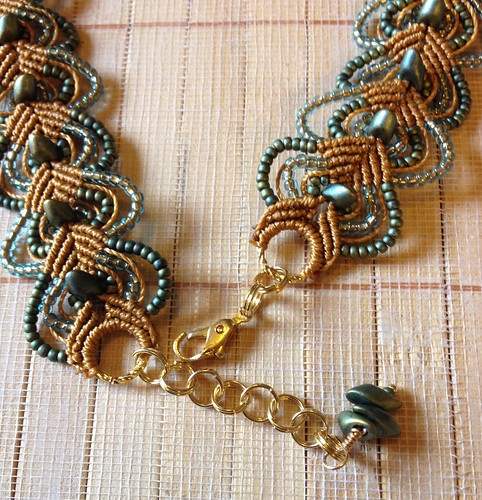Micromacrame Polymer Clay necklace