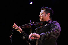 Gwitch'in fiddle player Boyd Benjamin