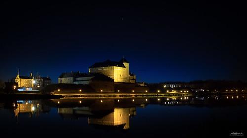 sky lake reflection castle water canon suomi finland stars landscape prison nightview hämeenlinna vankila valokuvaus yömaisema