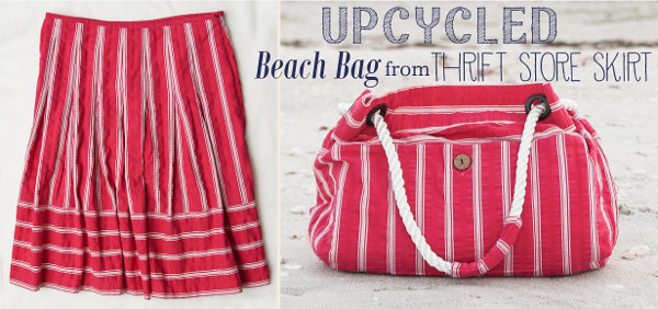 STITCHED by Crystal: Tutorial - Upcycled Beach Bag from Thrift ...