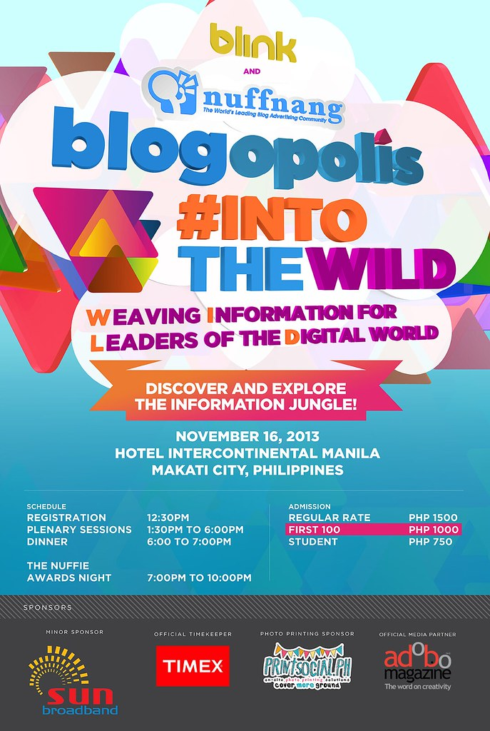Blogopolis Into The Wild Poster - Nov 4 web