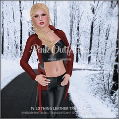 Wild Thing Leather Trim Coat
