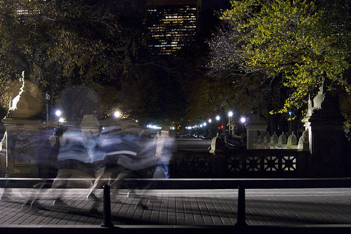 Night Joggers in Central Park by jankor