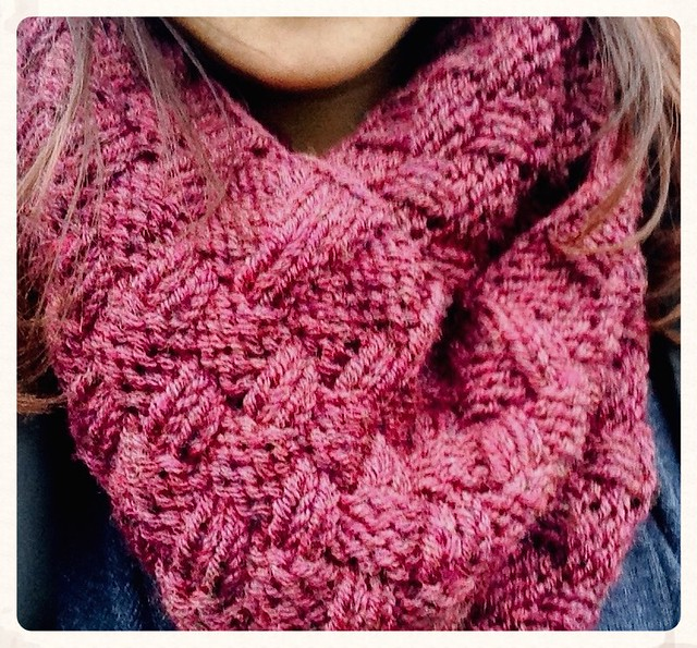 FO Friday: Double Basketweave Cowl