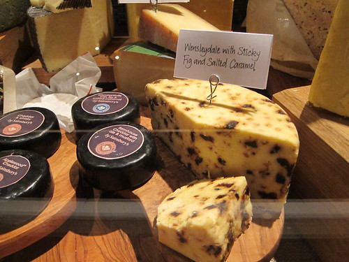 christmas Wensleydale cheese with fig and salted caramel