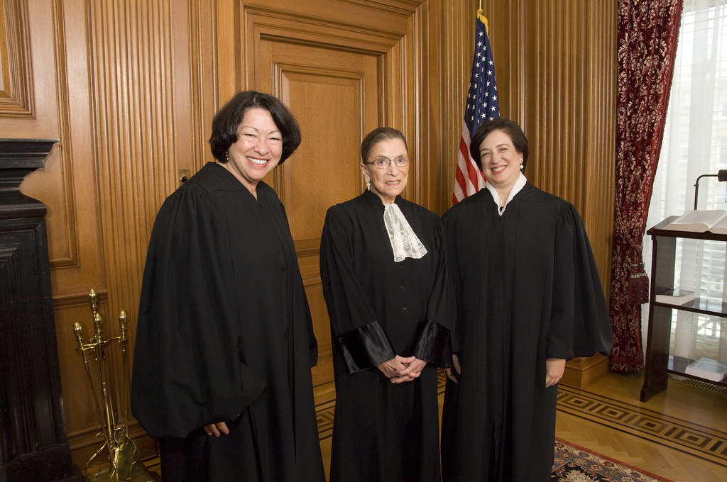 Supreme Court Justices Sotomayor, Ginsburg, Kagan