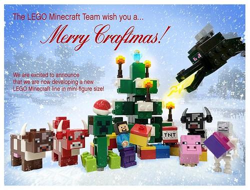 LEGO Minecraft Holiday Greeting
