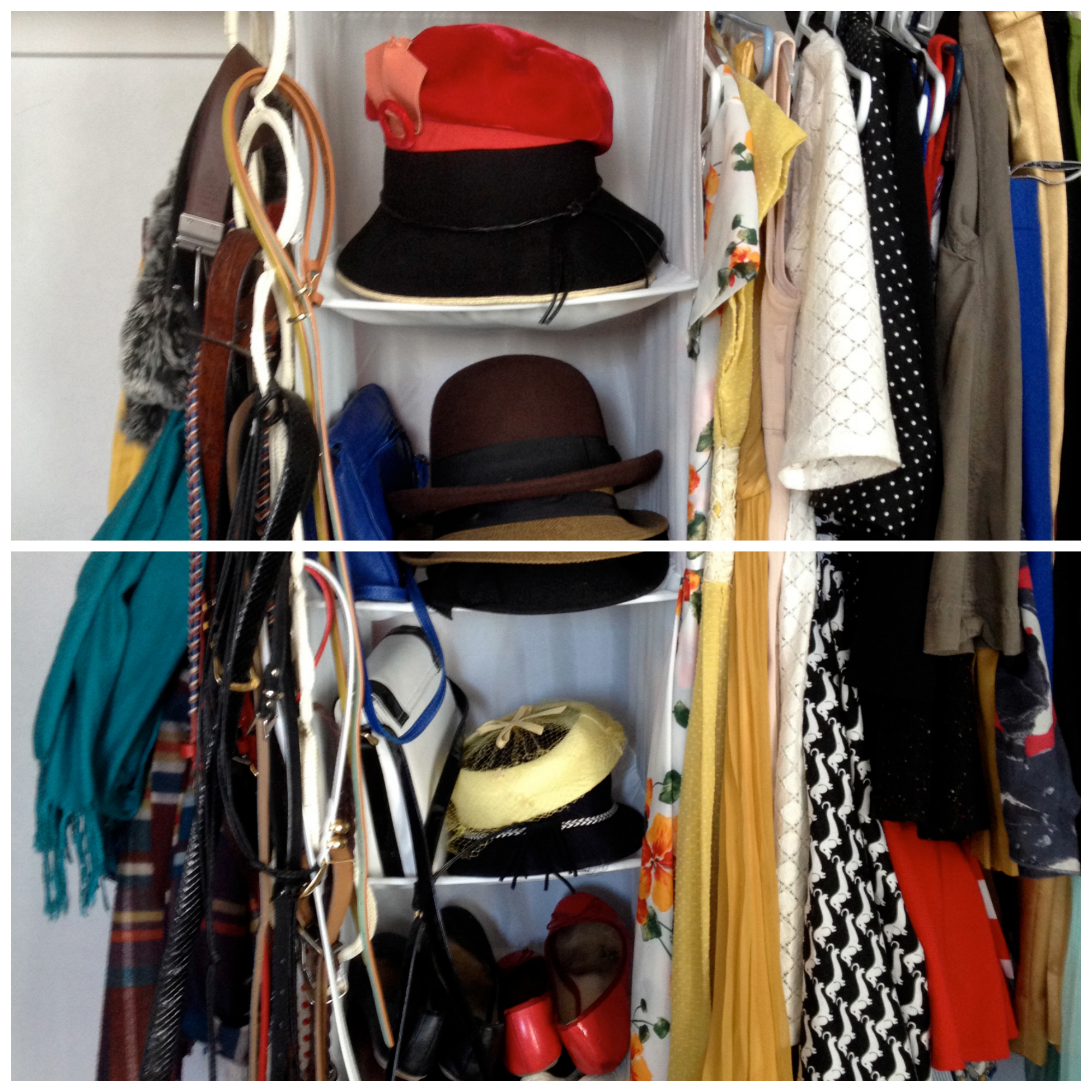 Closet, Wardrobe, Organization, Tour, Clothing, Hanging Shelf, Boots, Shoes