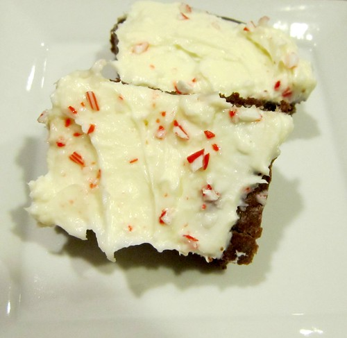 Peppermint Cream Cheese Brownies