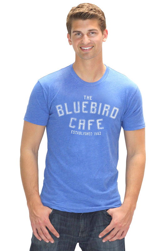 Bluebird Cafe Blue Nashville Logo T-Shirt