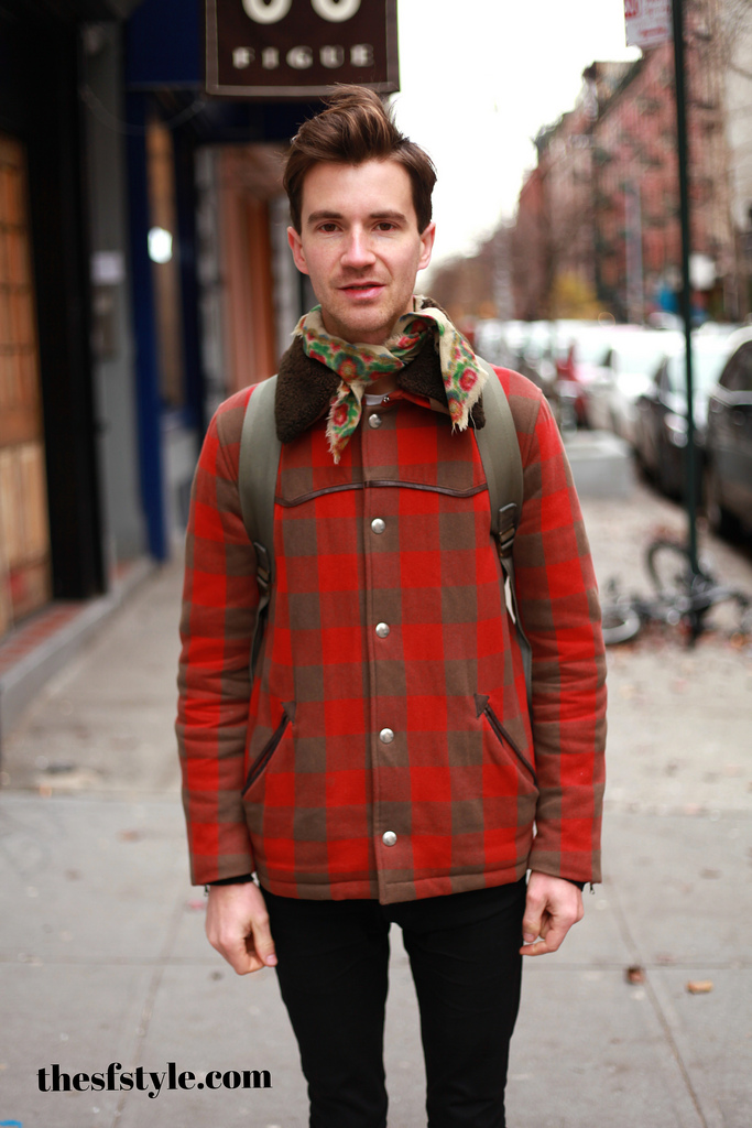 antique scarf, man morsel monday, new york streetstyle fashion blog,