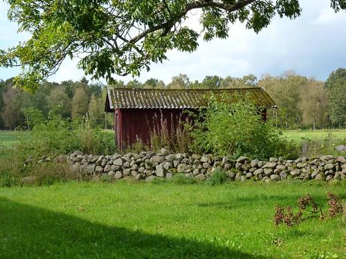 autumn by landscape skåne village sweden shed september sverige mur höst 2011 anderstorp skjul lumixtz20 anderstorpskåne