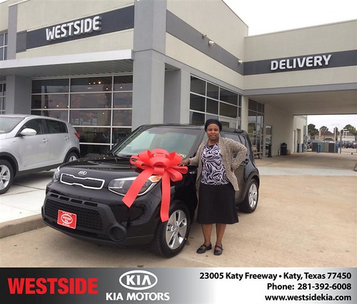 Thank you to Abiola Opabunmi on your new 2014 #Kia #Soul from Orlando Baez and everyone at Westside Kia! #NewCar by Westside KIA