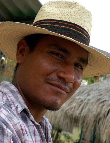 Gardener in his straw hat, near La Paz, Baja California Sur, Mexico by Wonderlane