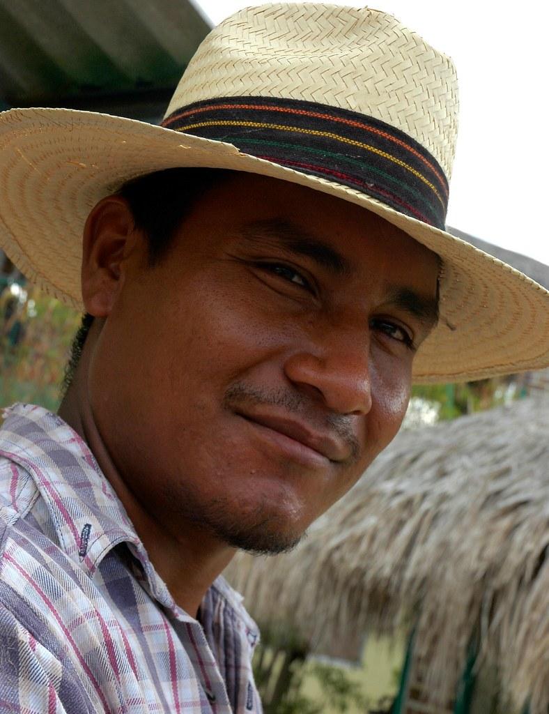 gardener in his straw hat near la paz baja california sur mexico