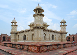 Image of Tomb of Itimad ud Daulah. india architecture tomb agra arches marble 1855 d60 mughal uttarpradesh mughalarchitecture