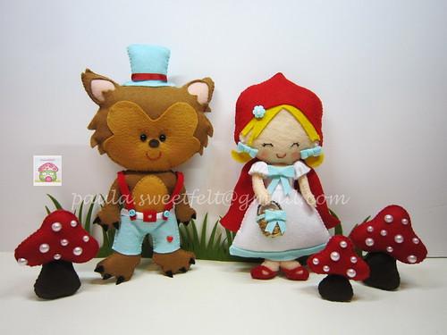 ♥♥♥ De novo o tema do Capuchinho Vermelho, para mais uma festinha de aniversário... by sweetfelt \ ideias em feltro