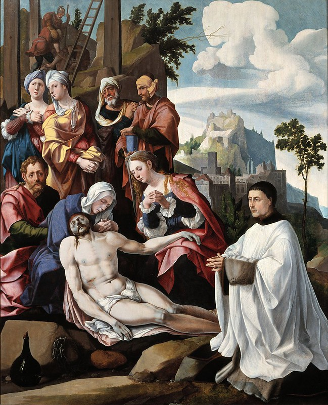 Jan van Scorel - Lamentation of Christ with a Donor (c.1535)