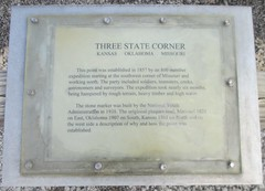 Tri-Point Monument Marker (Cherokee County, Kansas; Newton County, Missouri; and Ottawa County, Oklahoma)