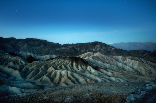 Zabriskie Point, Death Valley, California at dawn