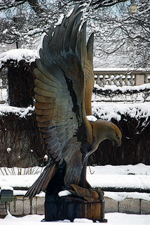 Eagle Statue and Snow Covered Trees, Chicago, March 12, 2014 54 full bpx